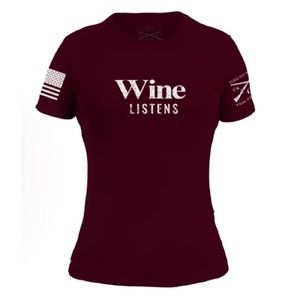 New!! Grunt Style Wine Listen Maroon T Shirt